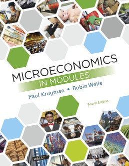 Microeconomics in Modules by Paul Krugman; Robin Wells - Fourth Edition, 2019 from Macmillan Student Store