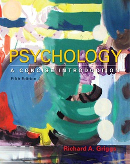 Psychology: A Concise Introduction by Richard A. Griggs  - Fifth Edition, 2017 from Macmillan Student Store