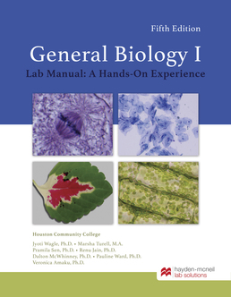 HM Biology 1106 - General Biology I by Jyoti Wagle, Ph.D.; Marsha Turell, M.A. - First Edition, 2019 from Macmillan Student Store