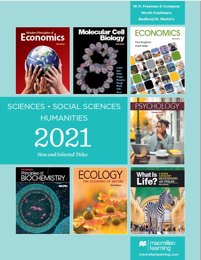 2021 new and selected titles in sciences, social sciences, and humanities from Macmillan Learning