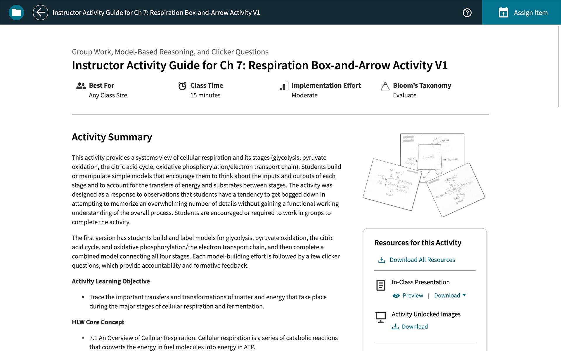 achieve activity guide