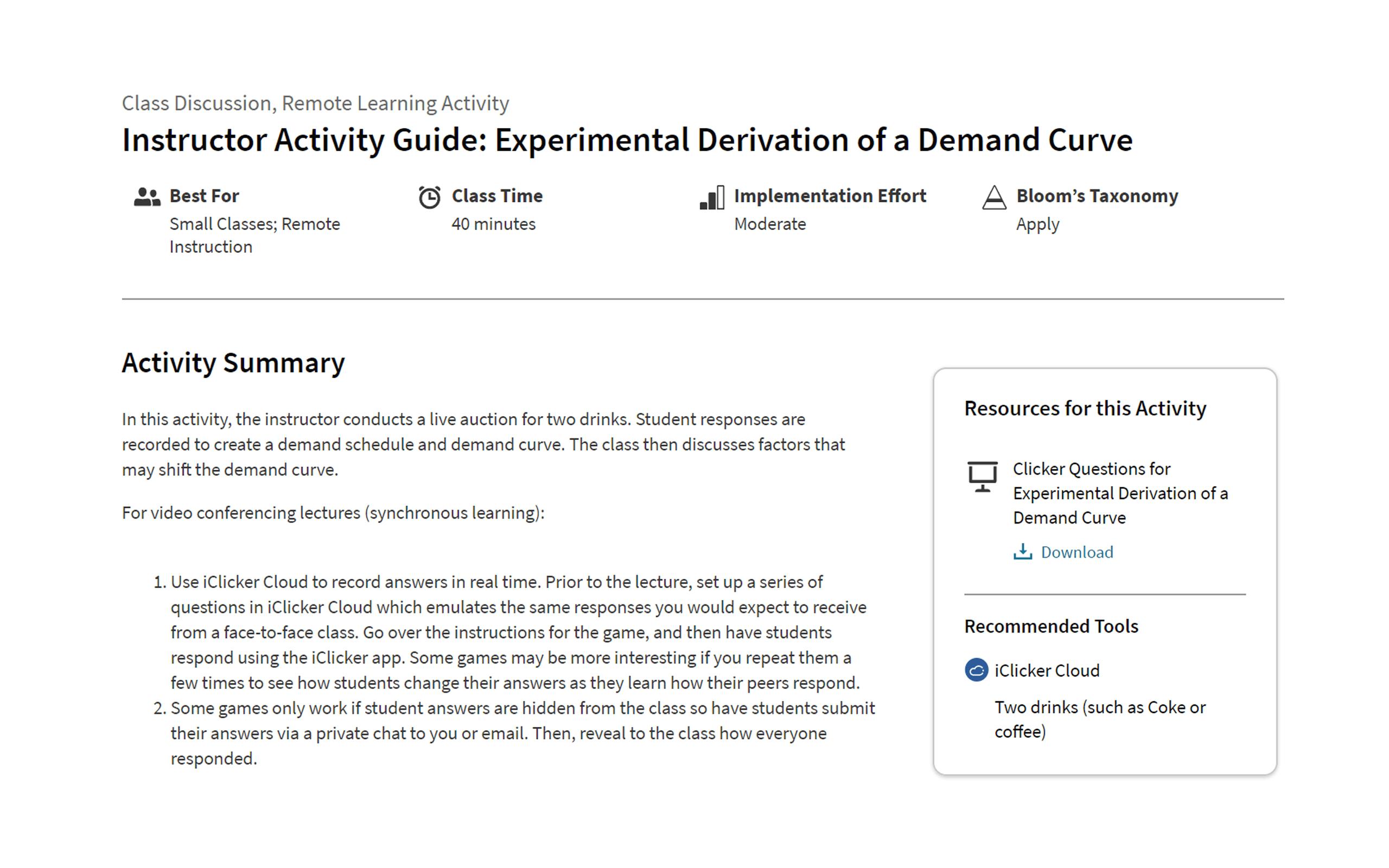 achieve activity guides