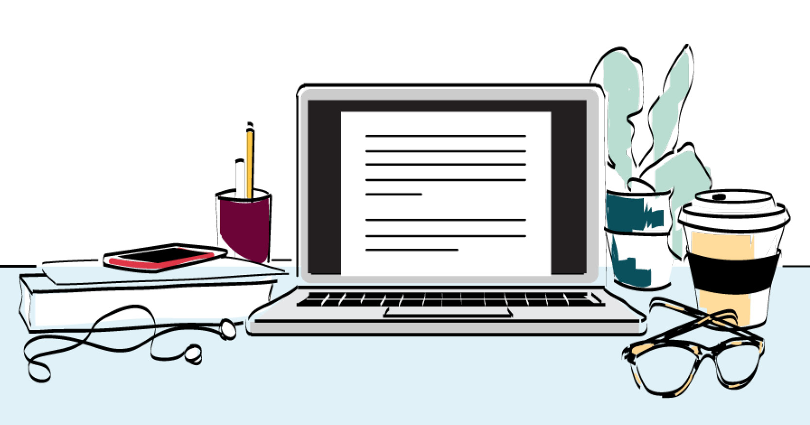 study materials on a desk