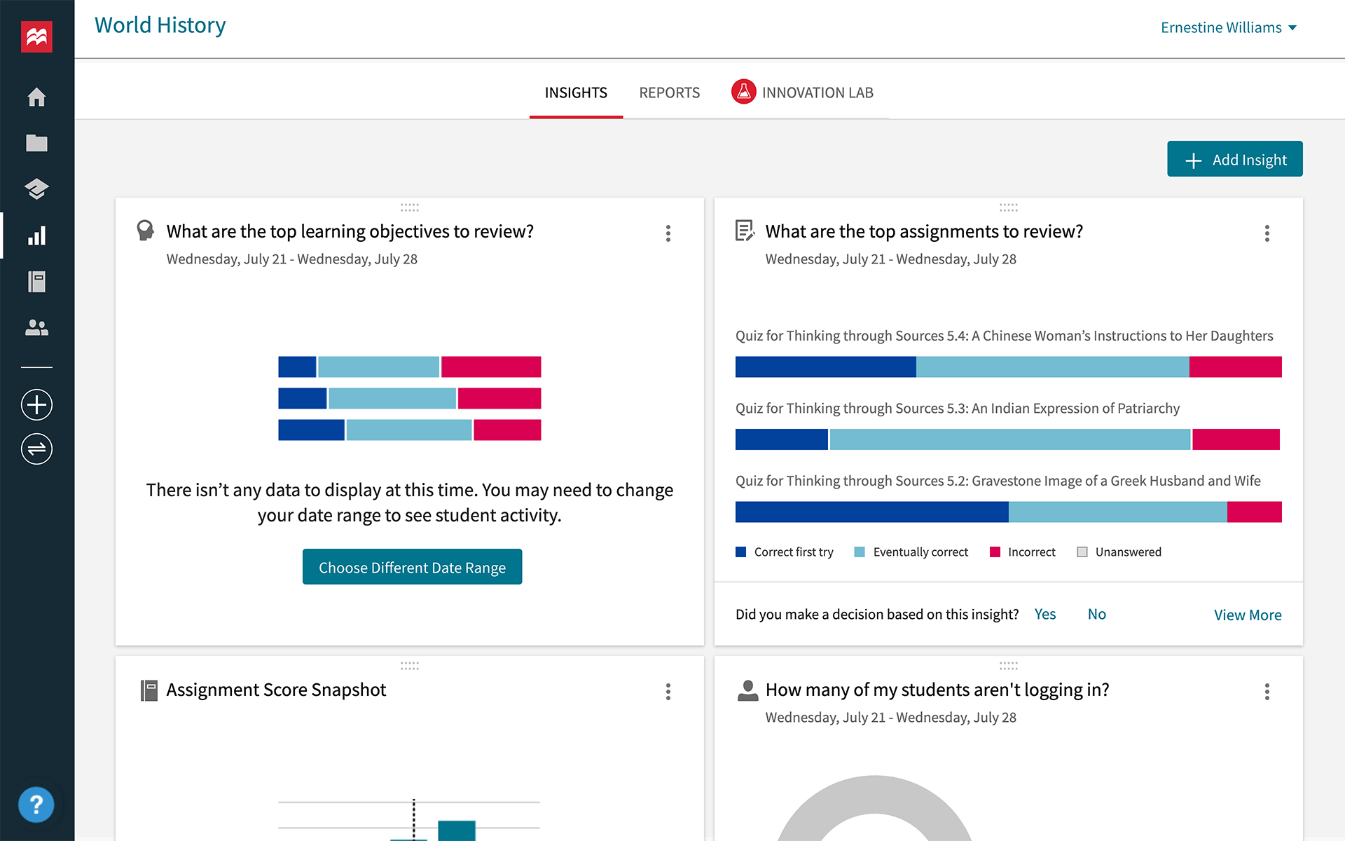 achieve insights and reporting