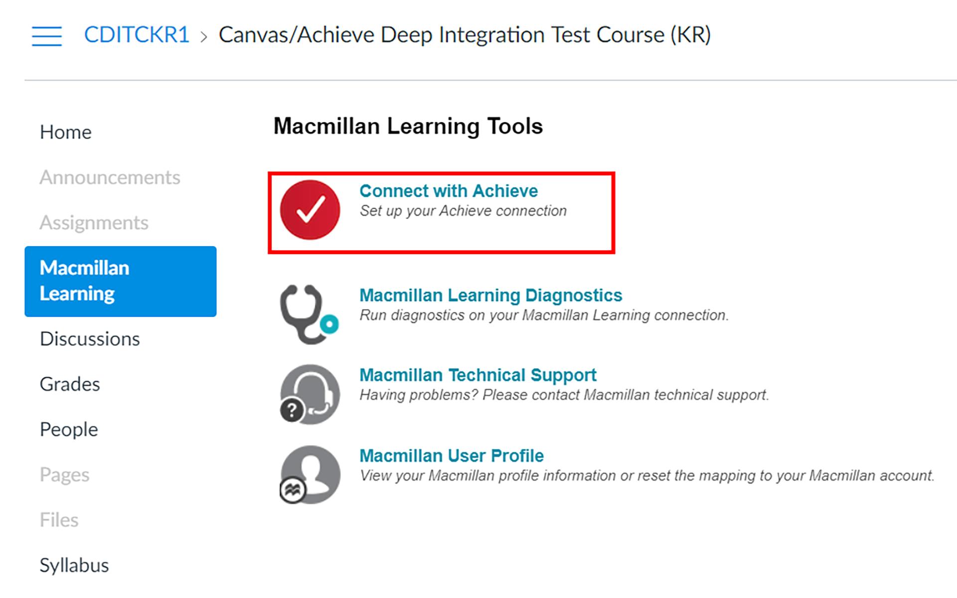 achieve lms integration