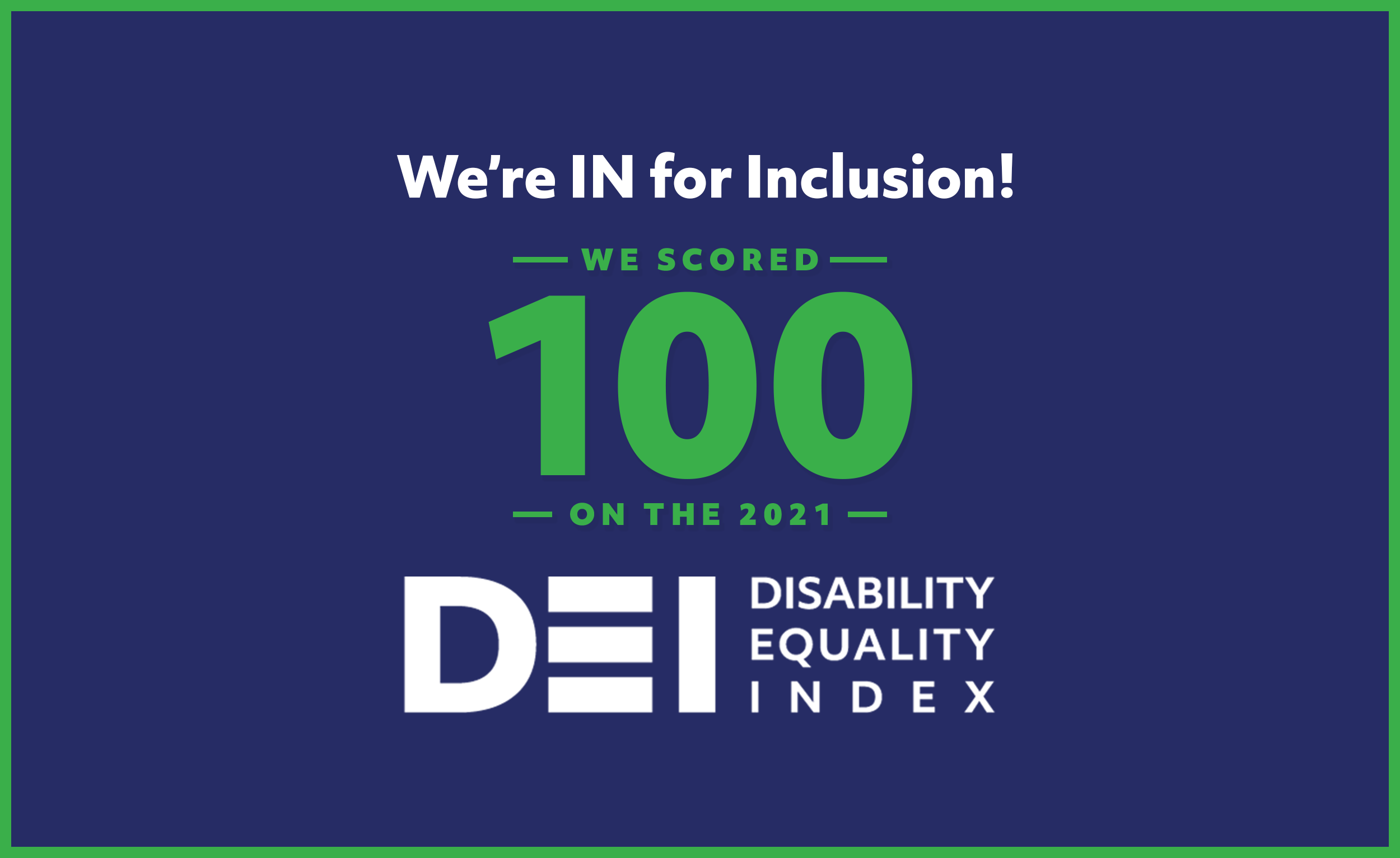 Macmillan Learning Earned 100% on Disability Equality Index.