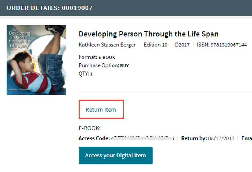 rental return ebook